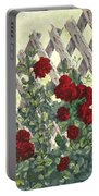 Roses On Lattice Portable Battery Charger