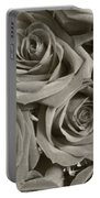 Roses On Your Wall Sepia Portable Battery Charger