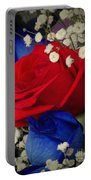 Roses - Red White And Blue Portable Battery Charger