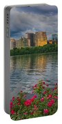 Rosslyn Virginia Sunset From Across The Potomac River Portable Battery Charger