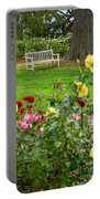 Rosy View - Beautiful Rose Garden Of The Huntington Library. Portable Battery Charger