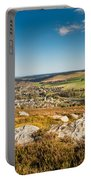 Rothbury Town From The Terraces Portable Battery Charger