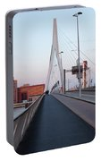 Rotterdam Downtown Skyline At Sunset Portable Battery Charger