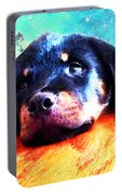 Rottie Puppy By Sharon Cummings Portable Battery Charger