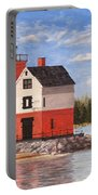 Round Island Light House Portable Battery Charger