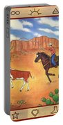 Round Up And Cattle Brands Portable Battery Charger