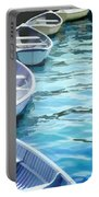 Rounded Row Of Rowboats Portable Battery Charger