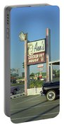 Route 66 - Anns Chicken Fry House Portable Battery Charger by Frank Romeo