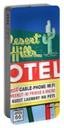 Route 66 - Desert Hills Motel Portable Battery Charger