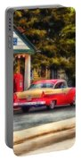 Route 66 Historic Texaco Gas Station Portable Battery Charger