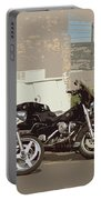 Route 66 Motorcycles With A Dry Brush Effect Portable Battery Charger