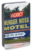 Route 66 - Munger Moss Motel Sign Portable Battery Charger
