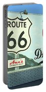 Route 66 - Mural With Shield Portable Battery Charger