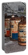 Route 66 Odell Il Gas Station Oil Cans Digital Art Portable Battery Charger