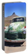 Route 66 - Old Green Chevy Portable Battery Charger
