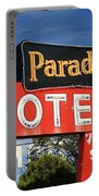 Route 66 - Paradise Motel Portable Battery Charger by Frank Romeo