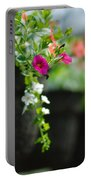 Row Of Hanging Baskets Shallow Dof Portable Battery Charger