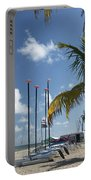 Row Of Sailboats Portable Battery Charger