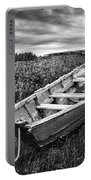Rowboat At Prospect Point - Black And White Portable Battery Charger