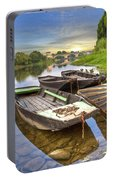 Rowboats On The French Canals Portable Battery Charger