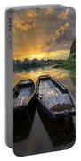 Rowboats On The River Portable Battery Charger