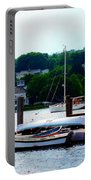 Rowboats Piled At Dock Portable Battery Charger