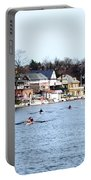 Rowing At Boathouse Row Portable Battery Charger