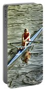 Rowing Crew Portable Battery Charger by Bill Cannon