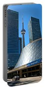 Roy Thomson Hall And Cn Tower Portable Battery Charger
