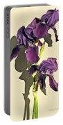 Royal Purple Iris Still Life Portable Battery Charger