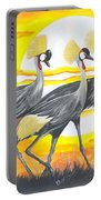 Royal Cranes From Rwanda Portable Battery Charger