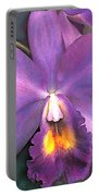 Royal Purple Cattleya Orchid Portable Battery Charger