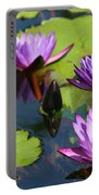 Royal Purple Water Lilies Portable Battery Charger