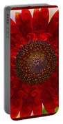Royal Red Sunflower Portable Battery Charger