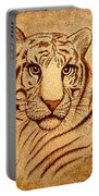 Royal Tiger Coffee Painting Portable Battery Charger