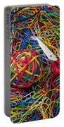 Rubber Band Ball With Sccisors Portable Battery Charger