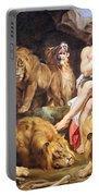 Rubens' Daniel In The Lions' Den Portable Battery Charger