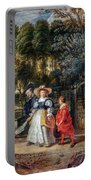 Rubens In His Garden With Helena Fourment Portable Battery Charger