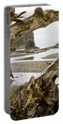 Ruby Beach Driftwood #3 Portable Battery Charger