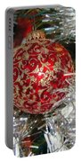 Ruby Red Ornament Portable Battery Charger