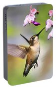 Ruby-throated Hummingbird - Digital Art Portable Battery Charger