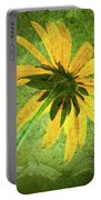 Rudbeckia On Cement Portable Battery Charger