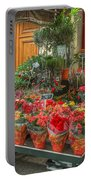 Rue Cler Flower Shop Portable Battery Charger
