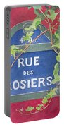 Rue Des Rosiers In Paris Portable Battery Charger