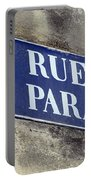 Rue Du Paradis Street Sign Portable Battery Charger