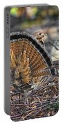 Ruffed Grouse Rear Strut Portable Battery Charger