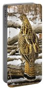 Ruffed Grouse Rear View Portable Battery Charger