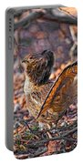Ruffed Grouse Side Strut Portable Battery Charger