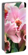 Ruffles And Flourishes Cattleya Orchids Portable Battery Charger