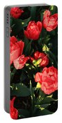 Ruffly Red Tulips Square Portable Battery Charger